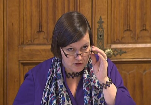 Labour MP and Public Accounts Committee chair Meg Hillier. (PA)