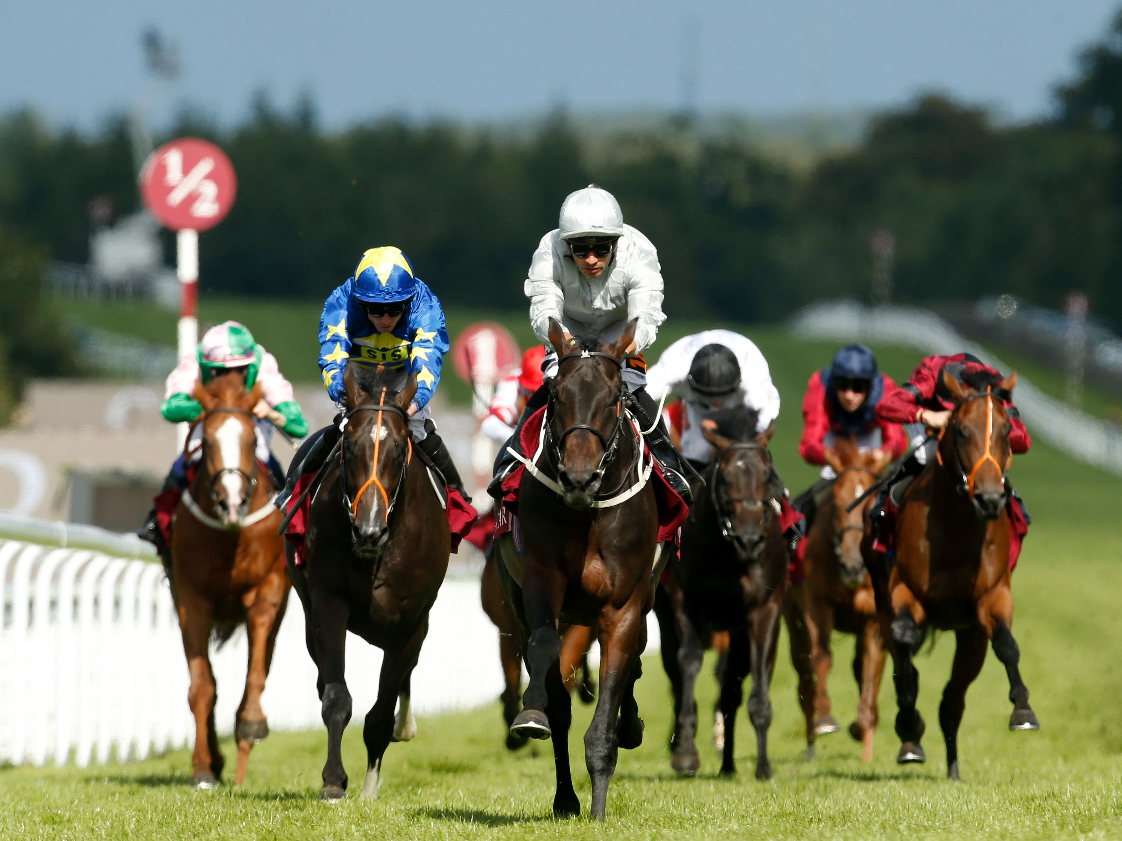 Dee Ex Bee (centre) could be heading to the Irish Derby (Paul Harding/PA)