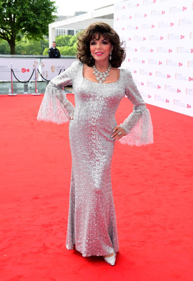 Joan Collins arriving for the Virgin TV British Academy Television Awards 2017