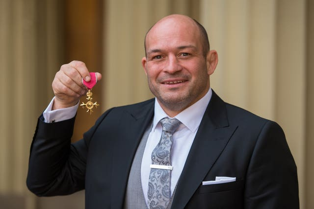 Rory Best was awarded an OBE in 2017
