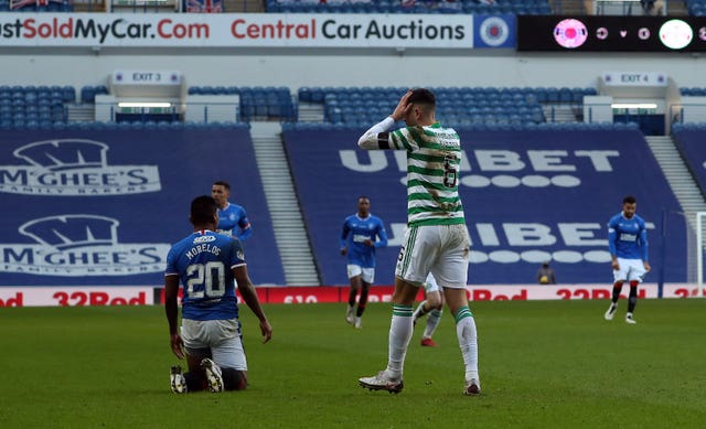 Nir Bitton, right, reacts after being sent off